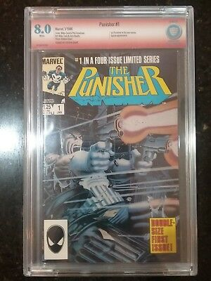 The Punisher #1 (Jan 1986, Marvel) SIGNED by Steven Grant CBCS 8.0!