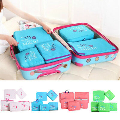 5pcs Waterproof Travel Storage Bags Clothes Packing Cube Luggage Organizer Pouch