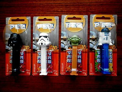 Star Wars Pez Lot Of 4 New And Sealed