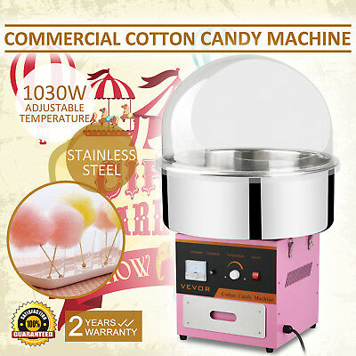 Electric Commercial Cotton Candy Machine / Floss Maker Pink W/Cover