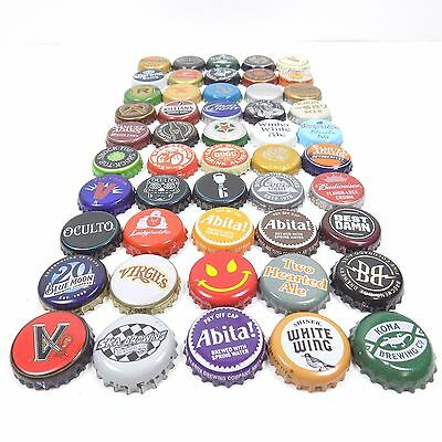 Beer Bottle Cap Lot Of 50 Different Mixed Bundle For Collecting Or Crafts (6)