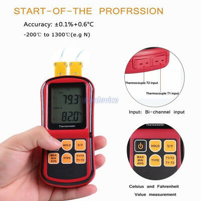 Thermocouple Thermometer Measure the thermocouple of J,K,T,E,N & R type -50~300C