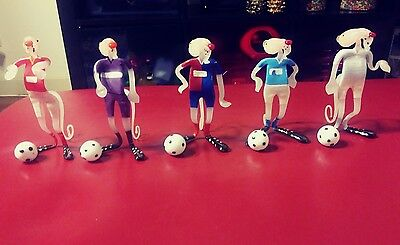 THE PINK PANTHER Soccer Figurines. Rare. Collectible