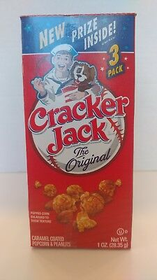 Cracker Jack The Original Pack of 3 With Prize Inside Vintage Candy Popcorn