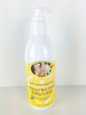 NEW - Earth Mama Angel Baby Natural Non-Scents Baby Lotion - UNSCENTED - 8 Oz
