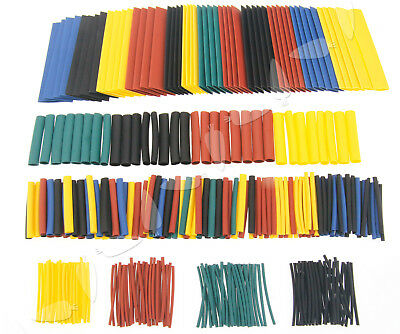 328x Assortment Heat Shrink Sleeve Electrical Cable Tube Tubing Wrap Wire Kit TN