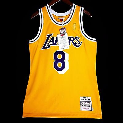 dec2945c765a 100% Authentic Kobe Bryant Mitchell   Ness NBA Lakers Jersey Size 60 4XL  Mens