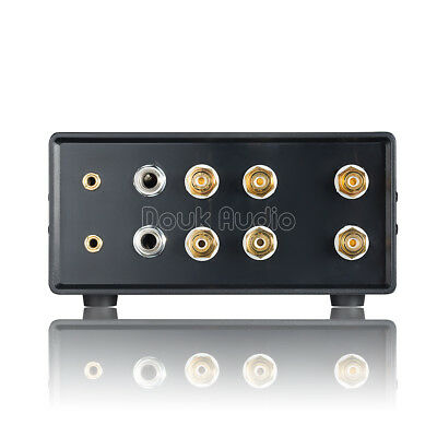 Audio Switcher Splitter 6-IN-1-OUT Composite 2× 3.5mm/6.35mm/RCA Umschalter Box