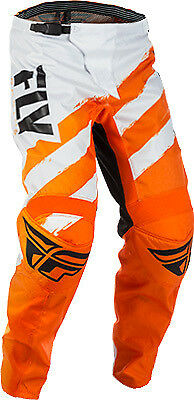Fly Racing F-16 Pants 28 Short Orange/White 371-93828S 28 Short 2018 371-93828S