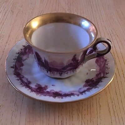 Mystery Porcelain Cup and Saucer #1