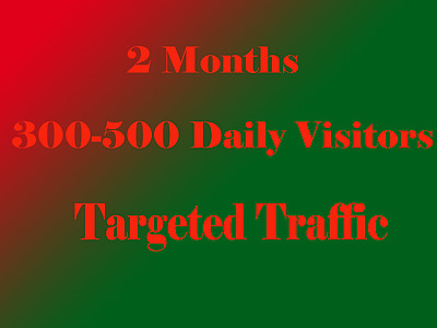Targeted Website Traffic for 60 days $ 7.75