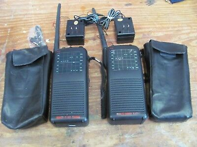 Set of 2 Multi Band HandHeld Radios with AC Adapters & Cases FM WB PD CB Air TV
