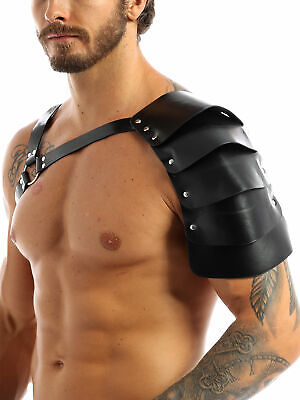 Men's Clubwear Faux Leather Body Chest Harness Shoulder Belt Role play Costume