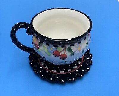 "Mary Engelbreit ""Oh So Breit "" Tea Cup and Saucer"