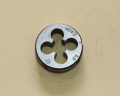 HSS 12mm x 1 Metric Die Right Hand Thread M12 x 1mm Pitch  Ship from USA