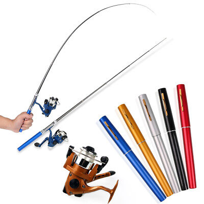 Combo Mini Pocket Pen Fishing Rod Pole with Baitcasting Reel Set Fishing Kits
