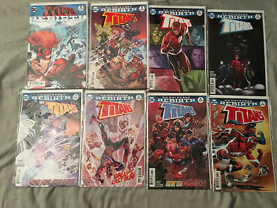 Titans Rebirth Lot 1-13 Full Run + One Shot NM First Printings!