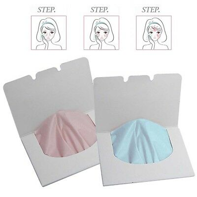 100 Sheets Make Up Oil Control Oil-Absorbing Blotting Facial Face Clean Paper YX