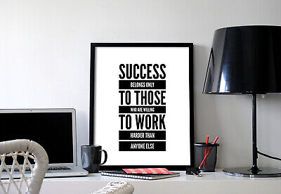 Success Motivational Inspirational Positive Thoughts Quote Poster Print Wall 49