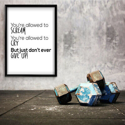 Motivational Inspirational Positive Thoughts Quote Give Up Poster Print Wall 187