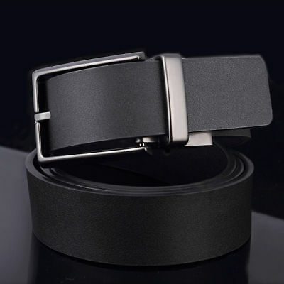 Men's Genuine Leather Waistband Alloy Pin Buckle Waist Belt Strap  Retro Real