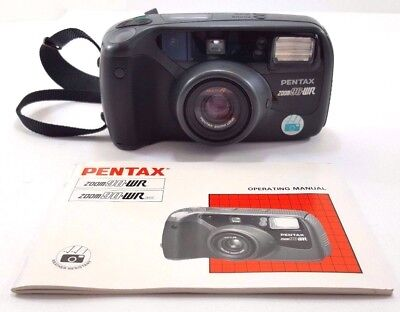 pentax zoom 90 wr 35mm film used camera with zoom lens and soft case rh picclick com pentax zoom 90 wr instruction manual download