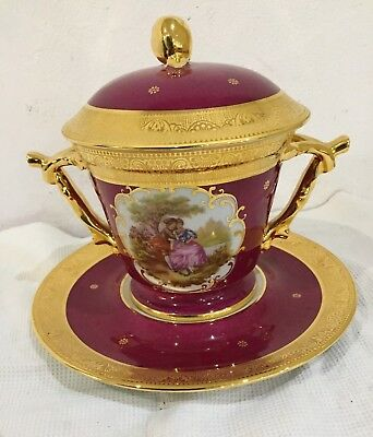 Bonbonniere Boite Gateau Biscuit Porcelaine D Art Porcelaine Limoges Decor Main