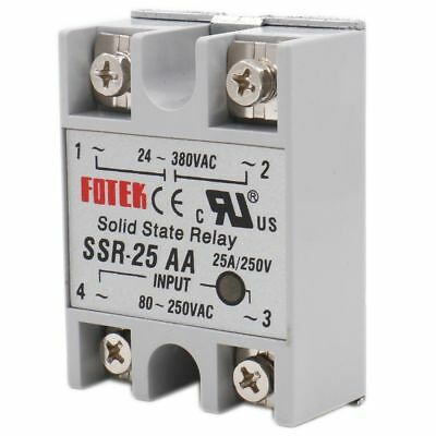 Solid State Relay SSR-25 AA AC to AC 25A INPUT 80-250V AC OUTPUT 24-380V AC