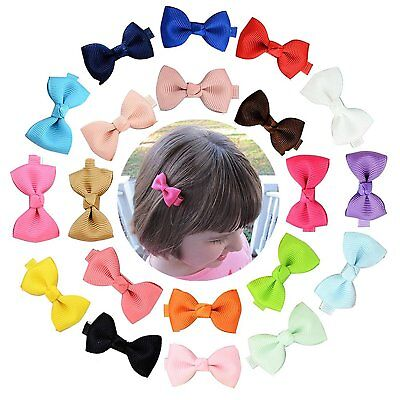 YHXX YLEN 20 Pcs Baby Girls Hair Bows Clips Hairpin Barrettes for Infant 3