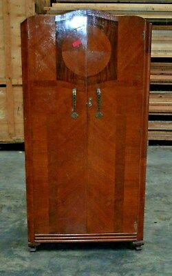 Lovely Old Wooden Double Wardrobe   67