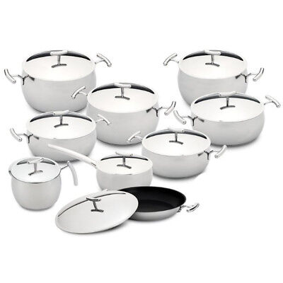 Silampos Yumi 9 Pieces Stainless Steel Cookware Set Made In Portugal