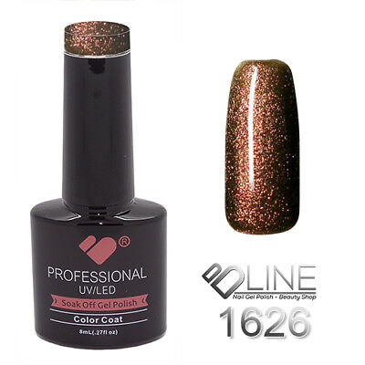 1626 VB Line Red Brown Chameleon Metallic - gel nail polish - super gel polish