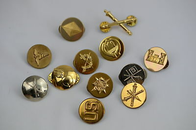 Lot of 12 Different Military Pins ~ Nice Lot ~ No Duplicates (#L1172)