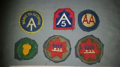 lot of 6 WWII Military Patches
