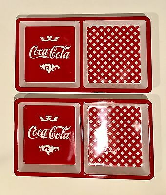 Coca-Cola Serving Dish Set Red and White Two Part Lunch Tray Set of Two