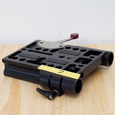 Arri-compatible dovetail baseplate bridgeplate clamp for 19mm rails #C
