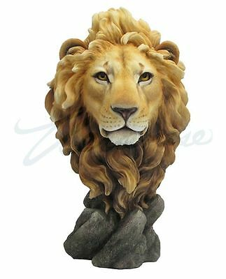 Large Lion Head Bust Statue Sculpture Figurine - WE SHIP WORLDWIDE