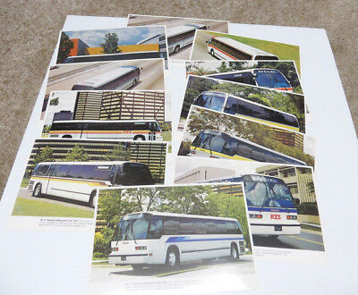 GM RTS 04 Series 12 Bus Postcards of Exterior Paint Trim in Original Folder