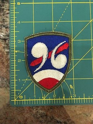 WWII US Army 96th Chemical Mortar Battalion Patch