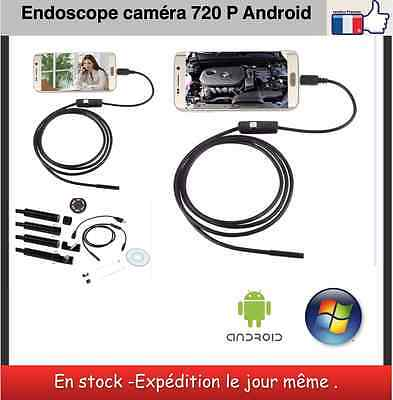 Endoskop android Kamera HD 720 P 6 LED Länge 1 m