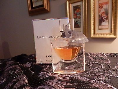 USED  Perfume Bottle La Vie Est Belle LANCOME 1.oz