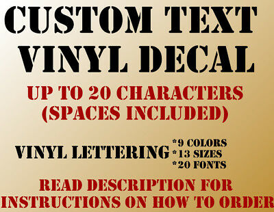 Custom Personalized Vinyl Lettering Decal Sticker Window Wall Text Name City