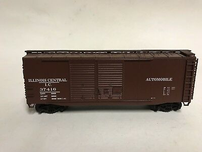 HO McKean? ILLINOIS CENTRAL IC ICG 40' DD Box Car #37416 Custom# EXC KD Train
