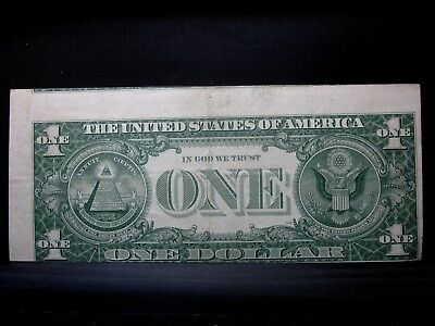 1957 $1 Silver Certificate ✪ Mis-Alignment Error ✪ 2 Notes Showing L@@k◢Trusted◣