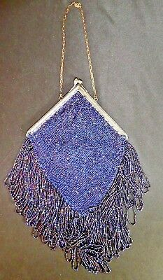 ART DECO Triangular BEADED HAND BAG from GATSBY FLAPPER Days in the 1920s