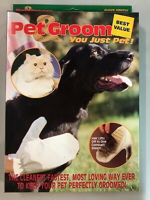 Pet Grooming Glove Brush Pets dog or cat With Glove Catches Hair