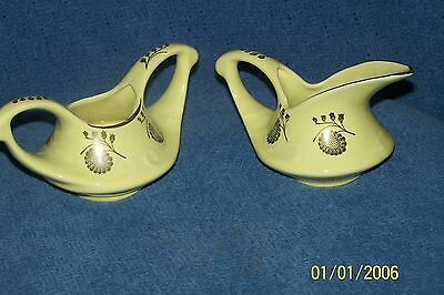Vintage Pearl China Co. Sugar and Creamer - 22 Kt. Gold Trim, Hand Decorated