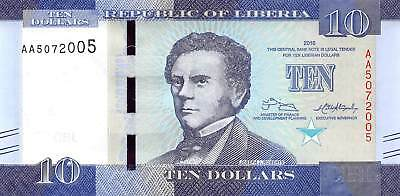 Liberia 10 Dollars, 2016 P.32 New Uncirculated Unc