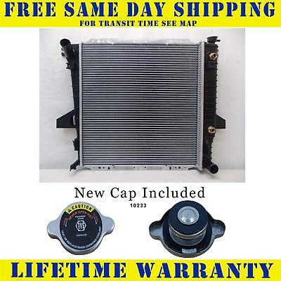 Radiator With Cap For Mazda Ford Fits B2500 Ranger 2.5 L4 4Cyl 2172WC