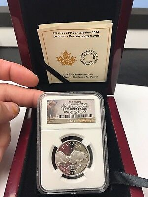 "NGC 2014 Canada PT$300 ""Challenge For Power"" PF 70 UC One Ounce Coin VERY RARE!"